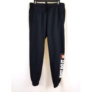 Nike Size M Black Sweat Jogging Pants